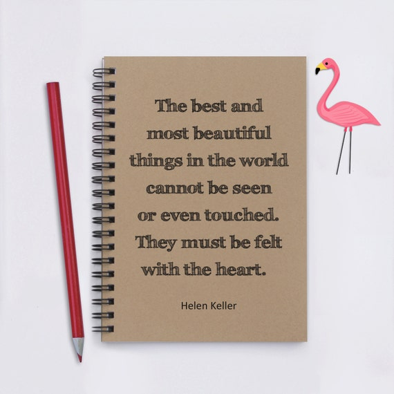 Helen Keller Quote The Best And Most Beautiful Things Etsy