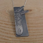 2x sterling silver donkey necklaces