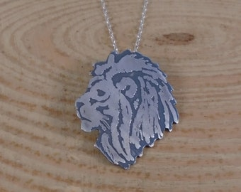 Sterling Silver Lion Head Necklace