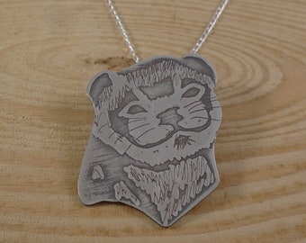 Sterling Silver Ferret Necklace | Ferret Jewellery | Polecat Necklace | Pet Owner Gift