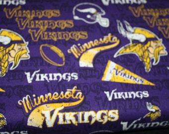 Price per 1 yard 1 Yard Minnesota Vikings Cotton Fabric Mascot Logo