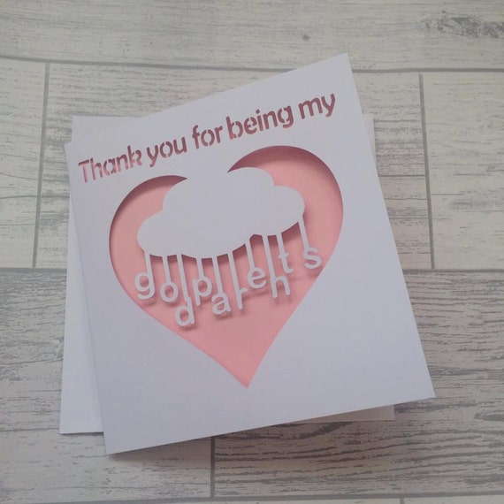 thank you godparents, thank godparents card, thank godparents, thank godfather card, thank godmother card, thank you card, christening