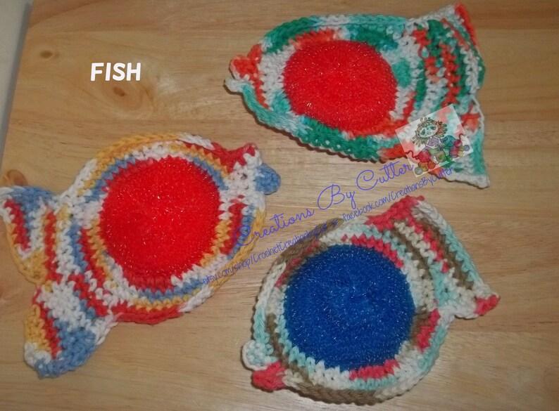 Crochet Scrubber, Cotton Cleaner, Dishcloths, Dish Scrubbies, Pan  Scrubbers, Kitchen, Handmade Scrubbies, Nylon Mesh