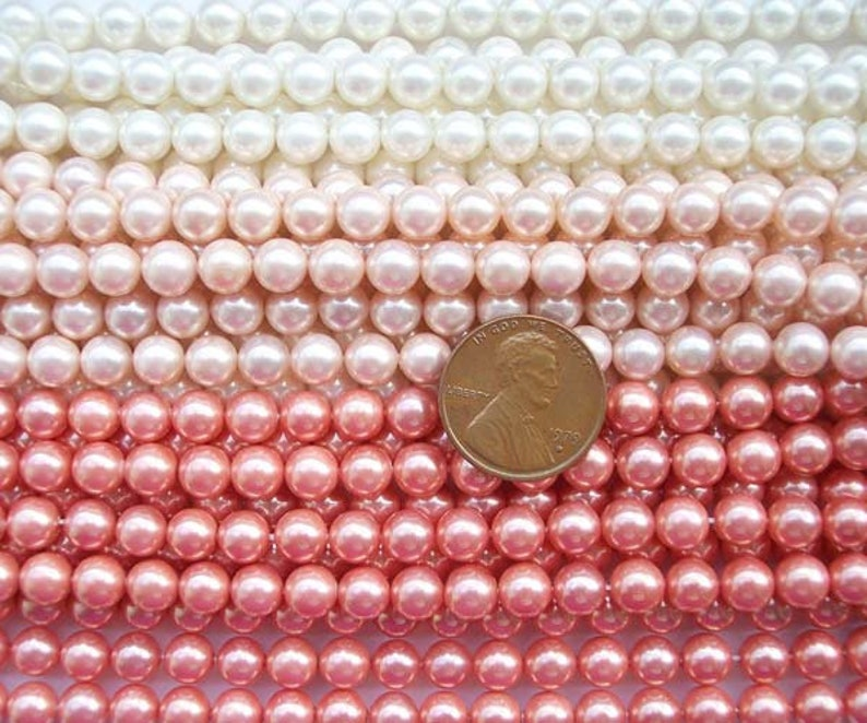 6mm Southsea Shell Pearl Strand in Various Colors