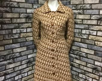 c7dbff7db7ec1a Gucci 1960s wool horsebit coat, vintage Gucci designer coat, UK6-8