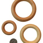 "Birch Wood Teething Rings - 3"", 2.2"", 2.5"", 1.75"" - Conditioned with T-Balm (Organic Olive or Coconut Oil and Beeswax) - DIY Wood Teething"