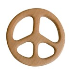 Peace Sign Wood Teether - DIY Wood Teething - Birch Teether - Beech Teether - Wood Teething - Engravable - Personalized