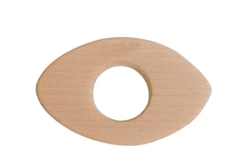 Football Rugby Engraved Wood Teether  DIY Wood Teething  image 0