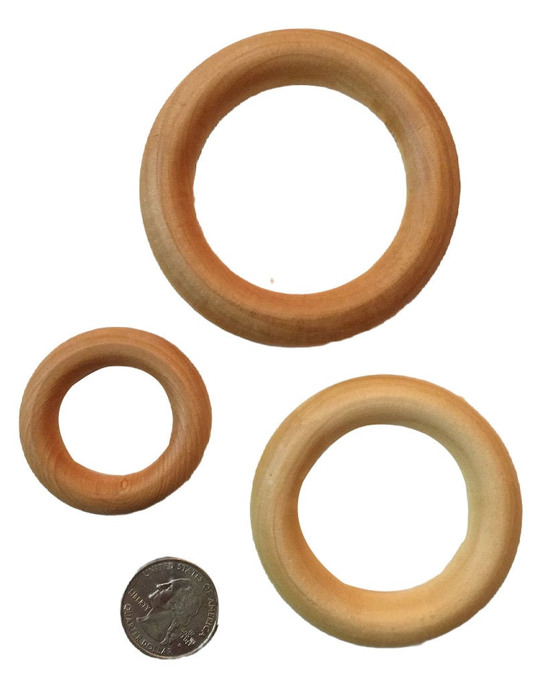 Birch Wood Teething Rings  3 2.2 2.5 image 0
