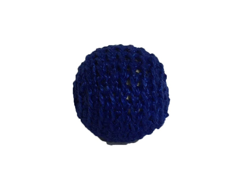 0.78 / 20 mm Crochet Teething Ball in Navy 10  1 Hand image 0