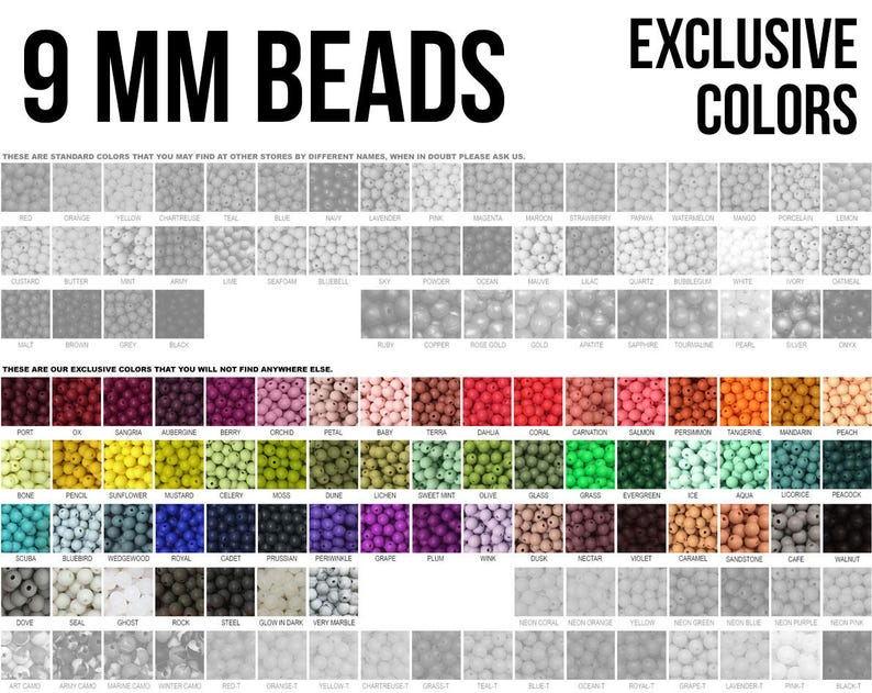 10-1000 9 mm Silicone Beads  Seamless Silicone Beads  image 0