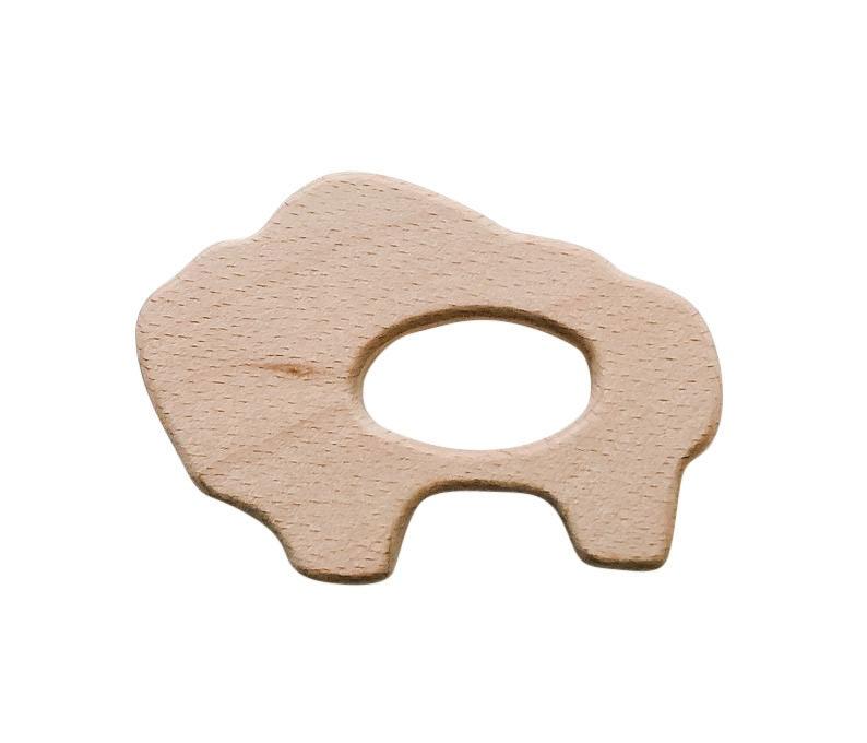 Wood Buffalo Bison Teether  DIY Wood Teething image 0