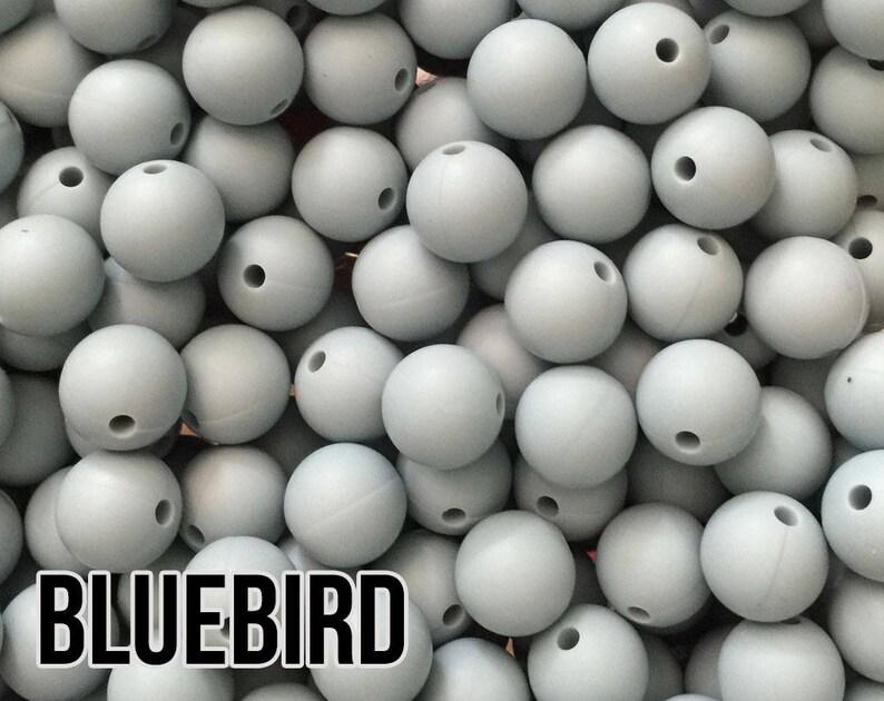 12 mm Bluebird Silicone Beads 10-1000 aka Light Blue Pastel image 0