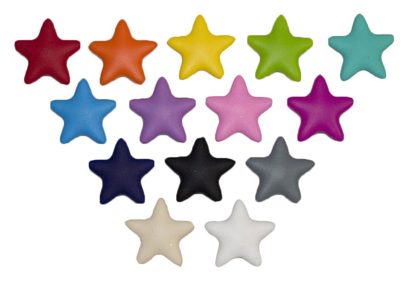 SALE 20% off  1-10 Star Silicone Beads  3D Star Seamless image 0