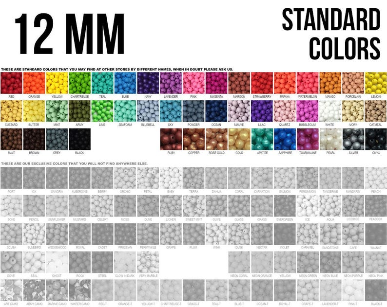 10-1000  12 mm Silicone Beads  Seamless Silicone Beads  image 0
