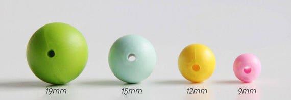 15 mm billes de Silicone Terra 5-1 000 (alias Maroon) - en vrac en Silicone perles Grossiste - dentition bricolage
