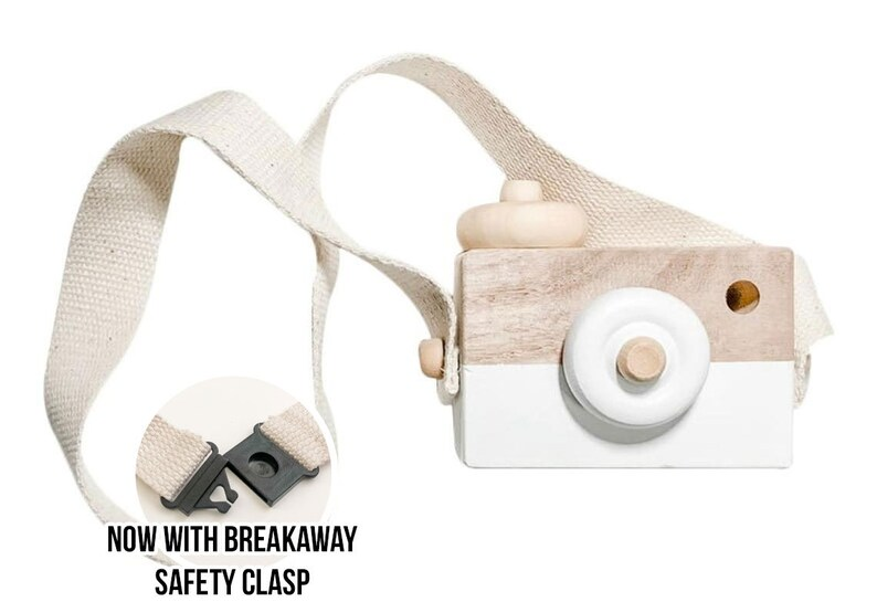 Wood Camera Toy  White Wood Camera  Wooden Toy  Free Play  image 0