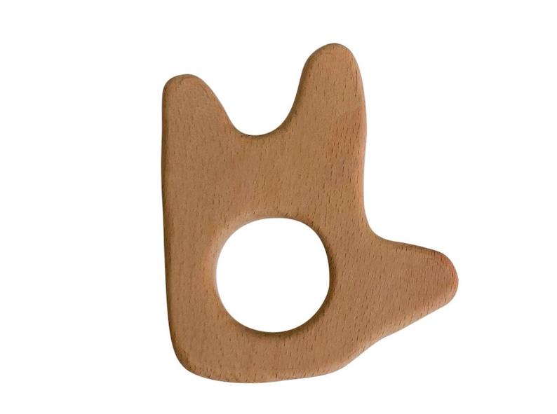 Sign Language ASL I Love You Engraved Wood Teether  DIY Wood image 0