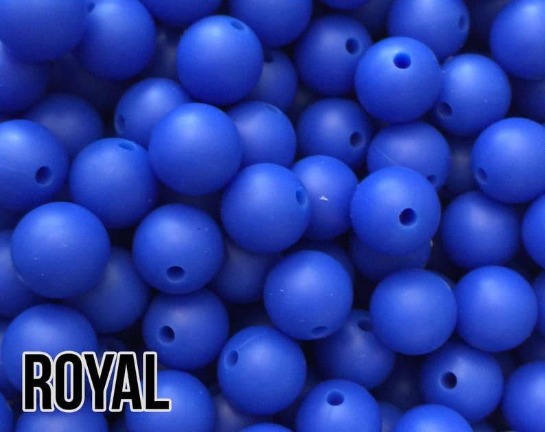 12 mm Royal Silicone Beads 10-1000 aka Dark Blue Navy Blue image 0