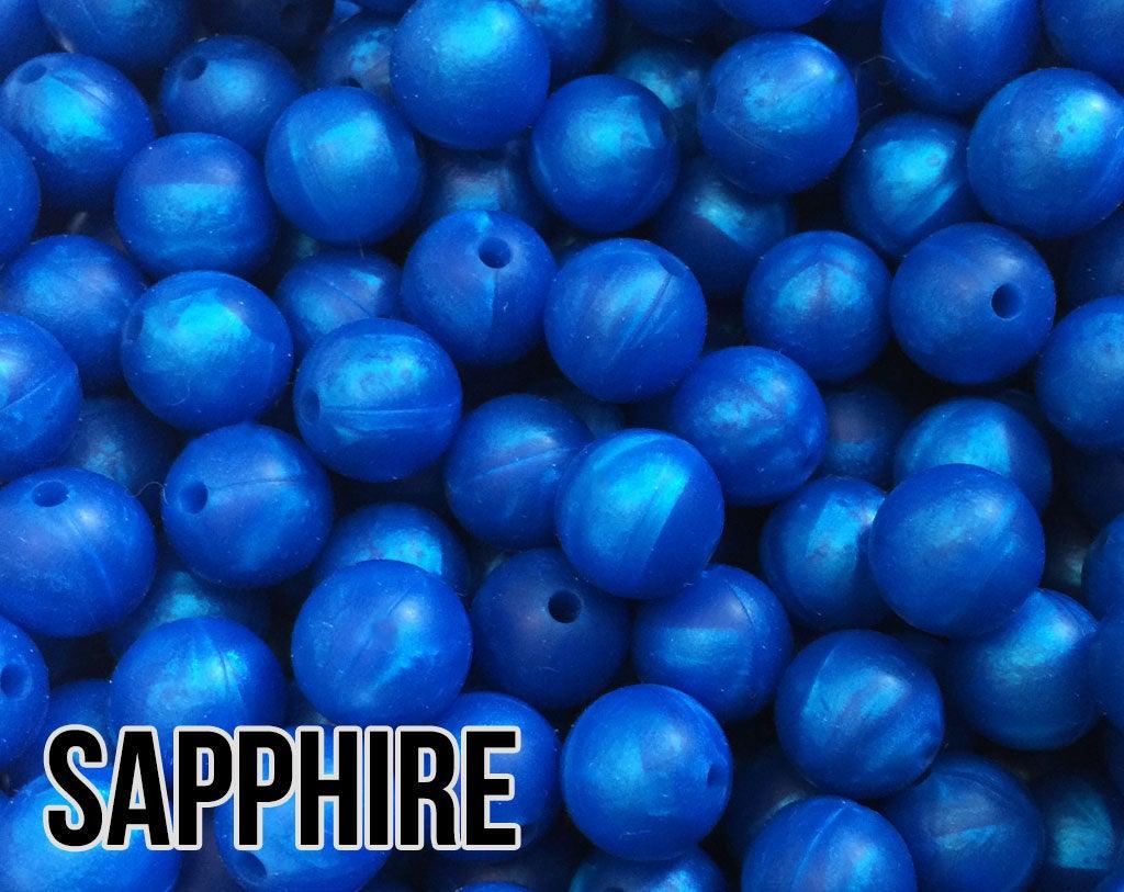Bulk Silicone Beads Wholesale Mini Abacus Blue Silicone Beads 5-1,000 aka Deep Sky Blue