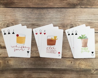 Gifts for Whiskey Lovers, Gifts for Dad, Gifts for Boyfriend, Father's Day Gift Deck of Cards, Happy Hour Games, Card Games