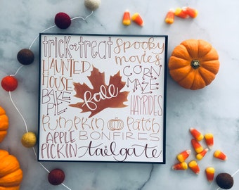 Fall Typography Print
