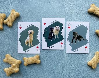 Custom Dog Playing Cards, Gifts for Dog Lovers, Dog Mother Gift Ideas, Dog Owner Gift, Custom Dog Gift, Christmas Dog Gift, Stocking Stuffer