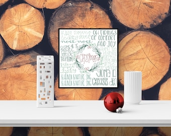 Christmas Wall Art, Holiday Print Decorations, Christmas Decorations, Holiday Sign Decorations, Christmas Home Decor, Christmas Wanderlist