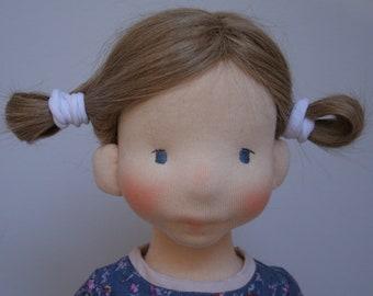 Maya 19inch waldorf inspired doll,waldorf doll, cloth doll,naturalfiber art doll ,steiner doll handmade doll,