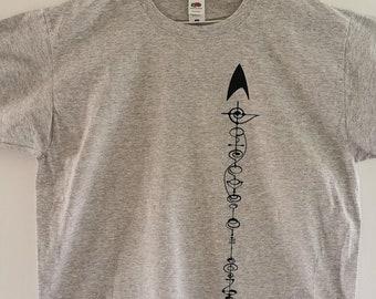 Star Trek t-shirt.  Live long & prosper - Vulcan Calligraphy