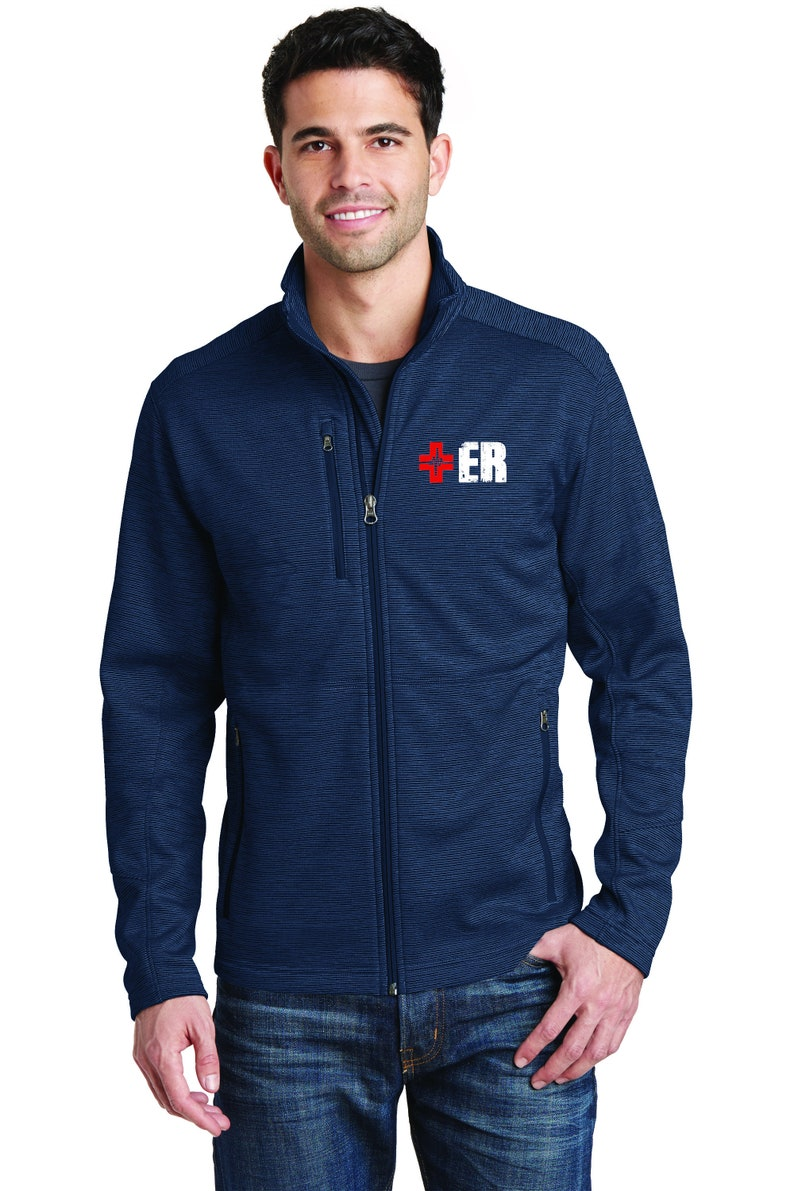 1dad18b627c Men's Nurse Jacket Zip Up Fleece Jacket Scrub Jacket   Etsy