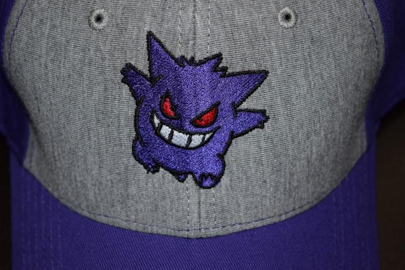 37656f8ca6e Pokemon Gengar Dad Hat Purple and Gray Ash Hat Ash Costume