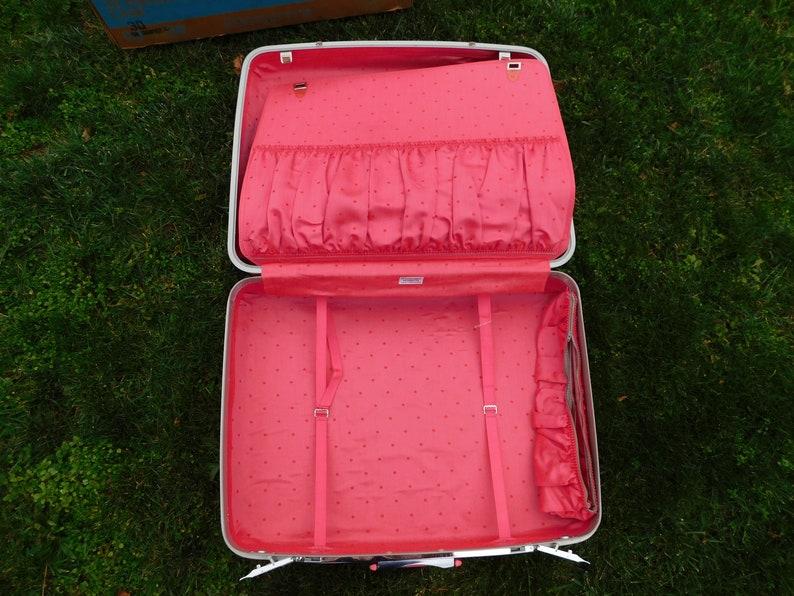 Samsonite Vintage Silhouette 26 Pullman Luggage Suitcase Pink Champagne wOriginal Box RARE