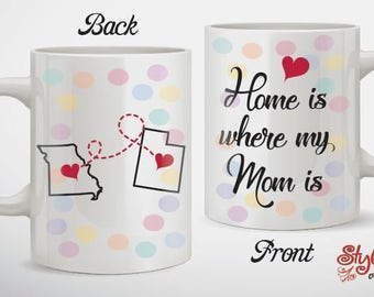Home Is Where My Mom Is Mug Best Christmas Gift