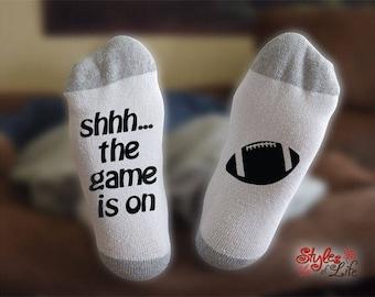Football Socks, Shhh... The Game Is On, Socks For Men
