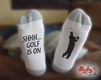 Shhh... Golf Is On Socks
