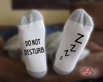 Do Not Disturb Socks, I'm Sleeping Socks, Funny Socks For Men, Funny Socks For Women