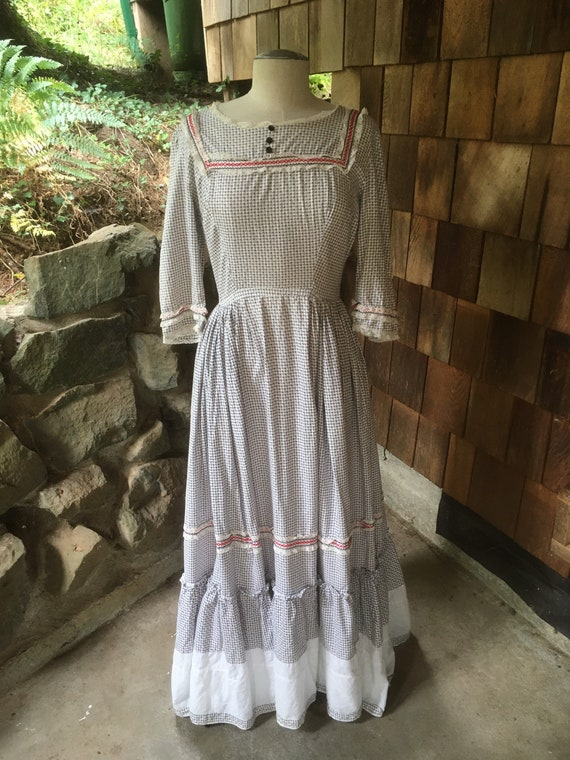 Early turn of the century cotton day dress.