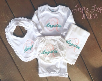 Monogrammed Personalized Complete Layette