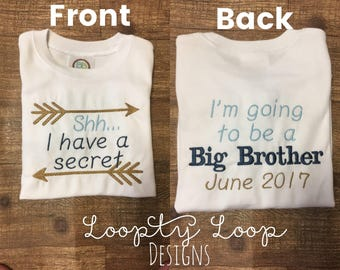 Big Brother Big Sister Shirt Aztec Theme