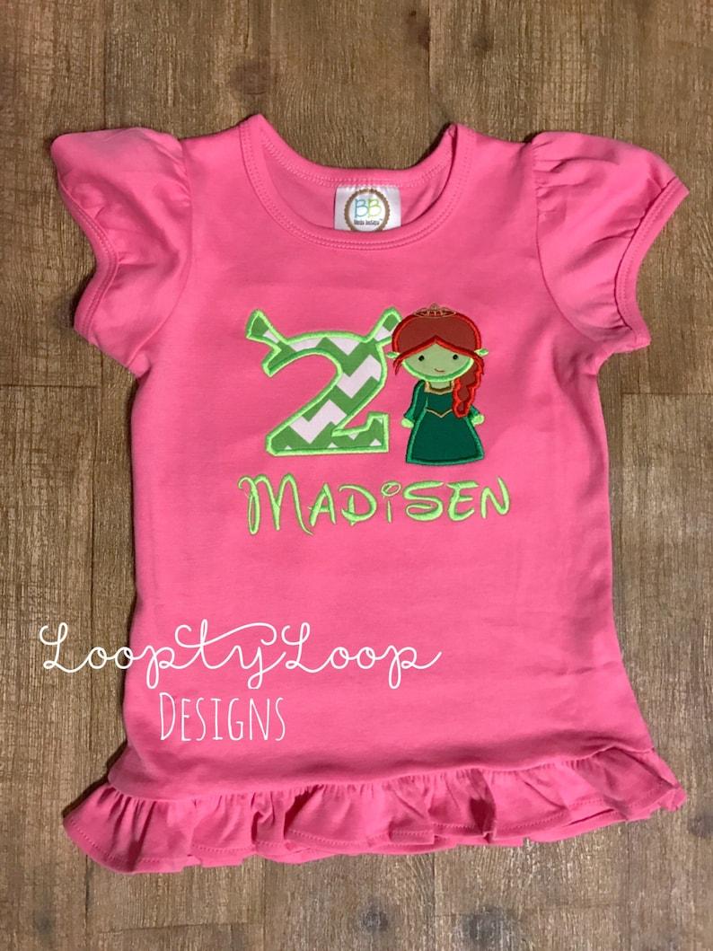 e89443665 Shrek Inspired Fiona Birthday Shirt Monogrammed and | Etsy