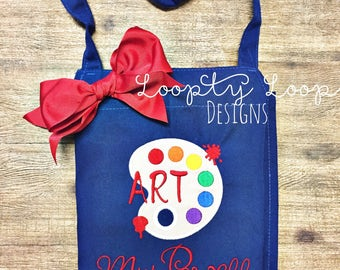 Art Apron Personalized with Pockets