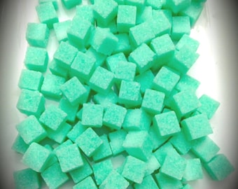 Sea Foam Colored Sugar Cubes  (120+ Bagged) Baby Shower Petite Sugar Cubes Gourmet Sugar Tea Gifts Bridal Favors