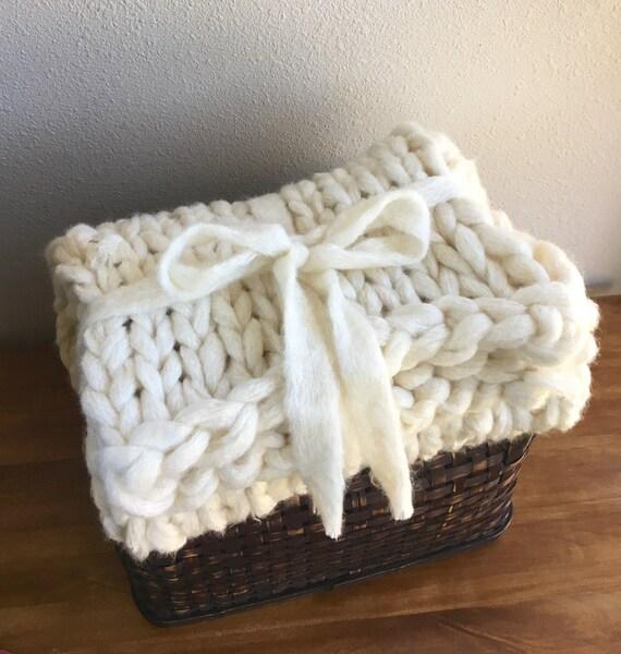 Chunky Baby Blanket Knitting Pattern Chunky Knitting Blanket   Etsy