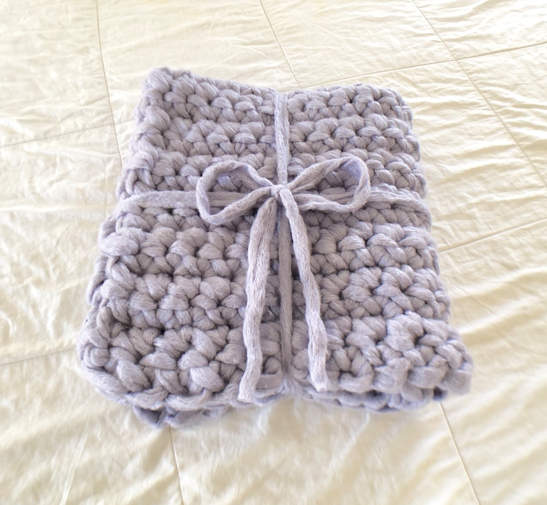 Finger Crochet Baby Blanket Pattern Only Chunky Crochet Etsy