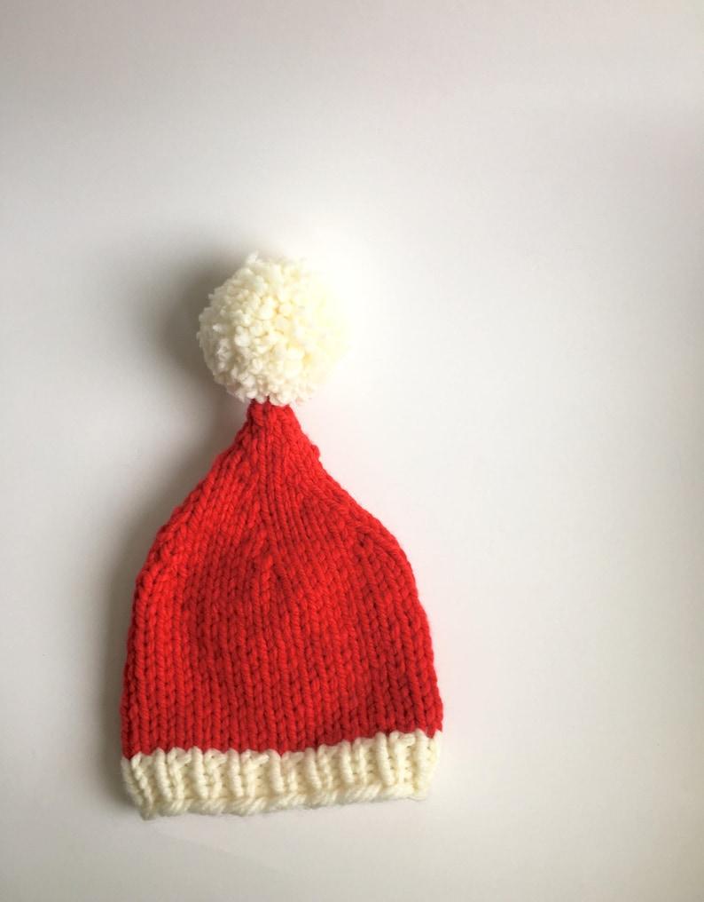 Baby Santa Hat Knitting Pattern PATTERN ONLY Beginner   Etsy