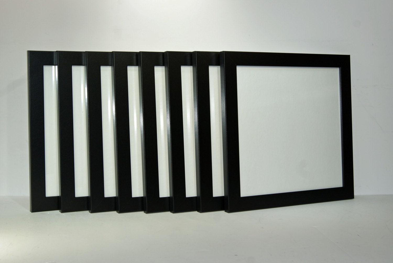 Square black picture frames 4x4 5x5 6x6 7x7 8x8 9x9 10x10 etsy