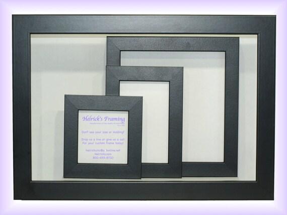 4x4 20x30 Black Custom Picture Frames Custom Sizes for | Etsy