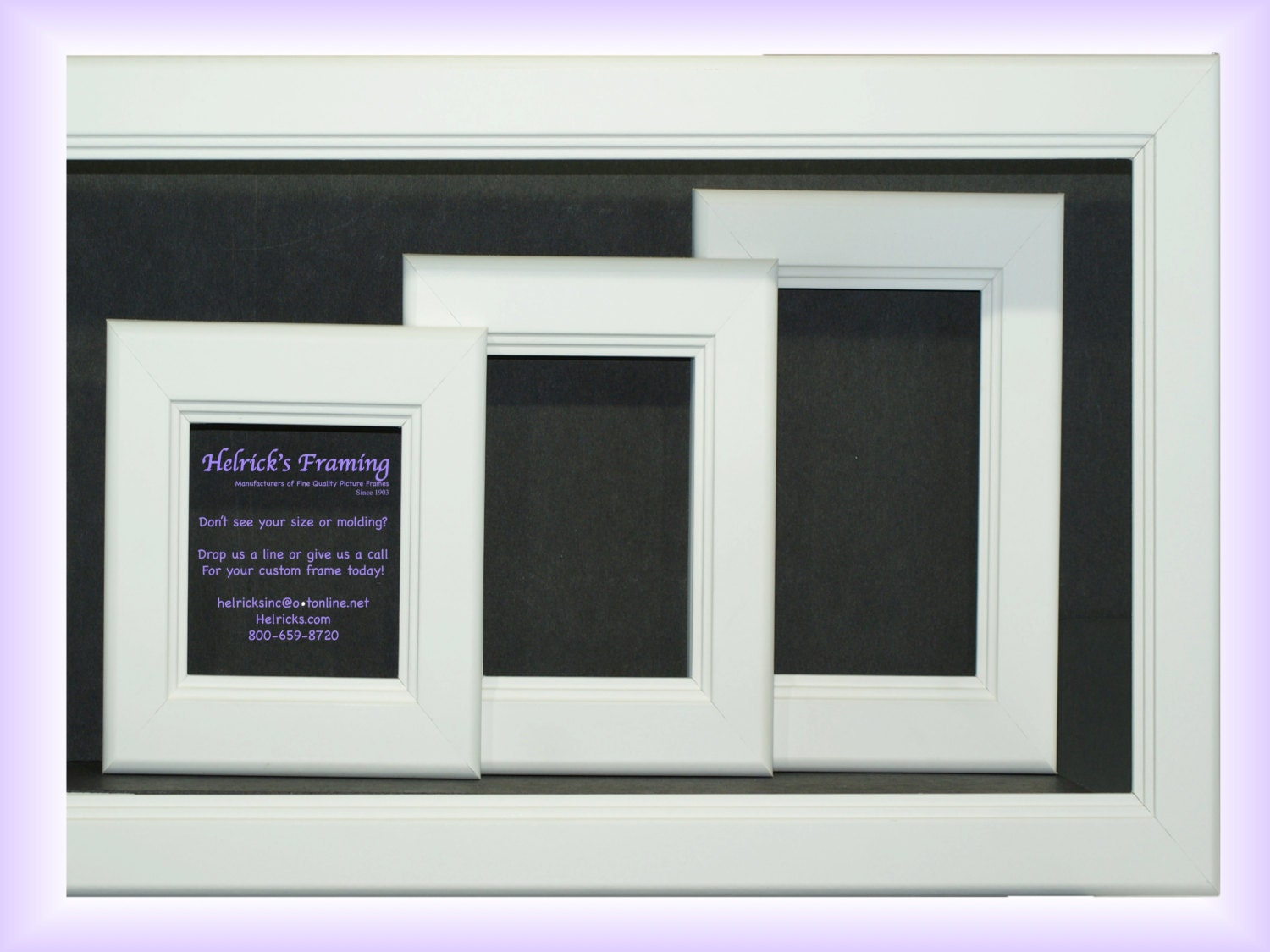 Custom White Picture Frames from 4x4 Square 6x6 8x8 10x10 10x20 ...