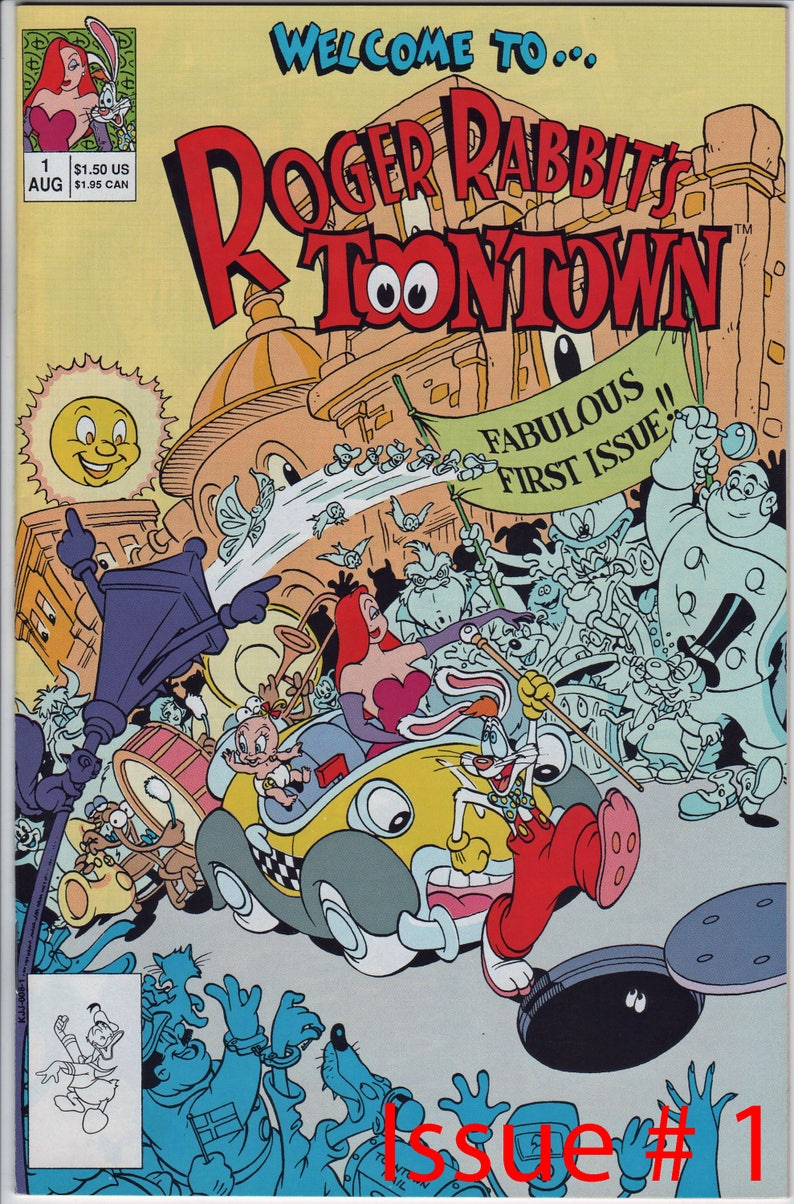5 different Walt Disney Publications, Roger Rabbit's Toontown, #'s 1 to 5   Mint Cond  Pick the ones you want, Mint Condition  1753a